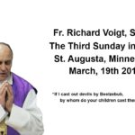 Sermon Fr. Voigt 3rd Sunday  In Lent 2017